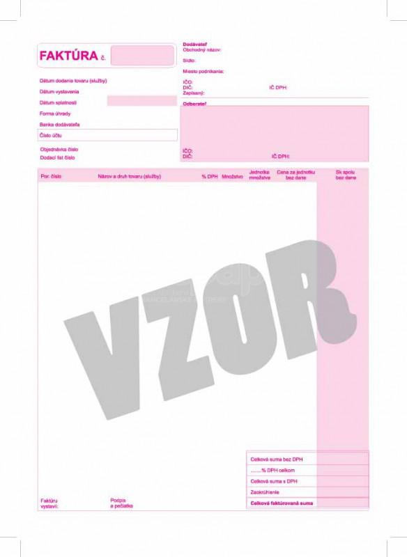 Faktúra Daňový Doklad A4 červená Subako 7 Xepapsk